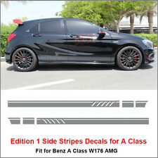 Edition 1 Side Stripes Decal Vinyl Sticker for Benz W176 A Class AMG Silver Gray