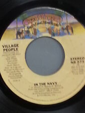 """VILLAGE PEOPLE 45 RPM """"In the Navy"""" & """"Manhattan Woman"""" VG- condition"""