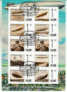 175. Geburtstag Graf Zeppelin  10er Bogen  Marke Individuell  oo