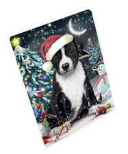 Holly Jolly American Staffordshire Terrier Dog Christmas Cutting Board C59109