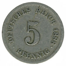 Deutsches Reich 5 Pfennig 1888 F A50245