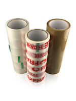 Long Length Packing Tape Strong BROWN / CLEAR / FRAGILE 48mm  & 24mm Parcel Tape