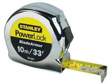 "Stanley STA033531 Powerlock 10m 33"" Inch Tape Measure Blade Armor 0-33-531 New"
