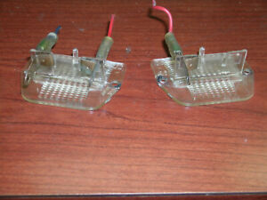 LICENSE PLATE LIGHT LENSES, ROLLS-ROYCE SILVER SHADOW, TRUNK MOUNTED LIGHTS