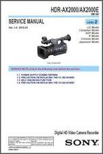 SONY HDR-AX2000 / AX2000E SERVICE & REPAIR MANUAL