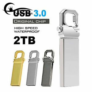 Metal USB 3.0 1TB 2TB Flash Drive Memory Stick Pen U Disk Key PC Laptop A2TF