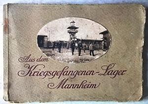 Aus dem Kriegsgefangenen Lager Mannheim WWI WW1 1917 Prima guerra mondiale kuk