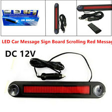 12v Car Red Led Programmable Message Sign Scrolling Style Display Board Control