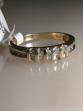 14k yg Solid Yellow GOLD Diamond Wedding Band Ring SIZE 11 I-264