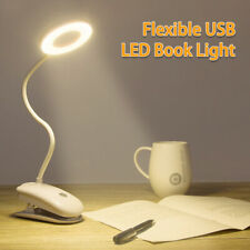 USB LED Clip on Reading Book Light Eye Protection 3brightness Lamp Rechargeable