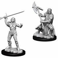 D&d NOLZUR'S Marvelous sin Pintar Miniatura Femenino Mitad-Orc Luchador (Pack 6)