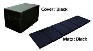 MULTI PURPOSE S.LEATHER MAGIC BOX YOGA GYM CUSHION FOLDABLE MATS BLACK COLOR