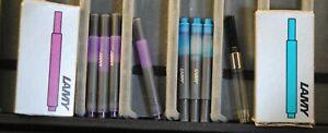 2 BOXES 7 PCS LAMY T10 INK REFILLS CARTRIDGES PLUS A CONVERTER FOUNTAIN PENS