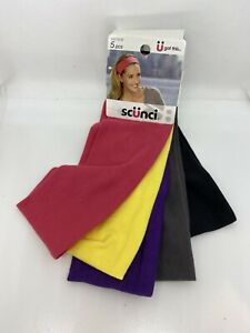 "5 Pack Multicolor 2-1/2"" Headbands Scunci Mask Making Supplies Add Buttons NWT"