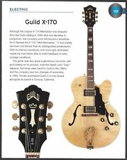 The 1962 Harmony Rocket III + Guild X-170 electric guitar 6 x 8 pin-up article
