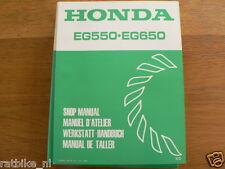 HONDA EG5550,EG650  SHOP MANUAL FACTORY BOOK GENERATOR POWER WERKSTATT K0