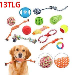 13 tlg Hunde Spielzeug Set Kauspielzeug aus Seil Interaktives Pet Dog Welpen Toy