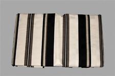 Waverly ESSENCE ONYX Black Cream Taupe Striped Squares European Sham NIP DISC!