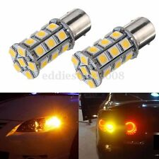 2x 1156 BAU15S PY21W 27 LED 5050 SMD Car Indicator Light Bulb Warm White 12V