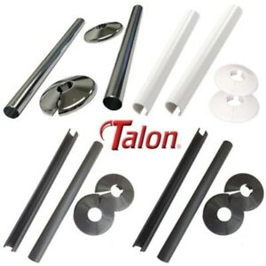 Talon Snappit Radiator Pipe Covers Collars Choose Black,White,Chrome,Anthracite