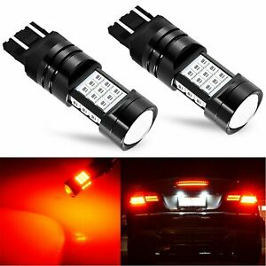 JDM ASTAR 2x 7443 7440 LED Bright Red PX-SMD Turn Signal Brake Tail Lights Bulbs