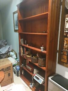 Solid wood bookcase shelves