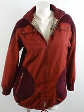 FOXLAND BY LANSON WOMENS SIZE 6 BRICK RED COTTON & CORDUROY JACKET WOOL LINED