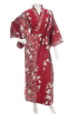 Cherry Blossom Print Long Red Yukata