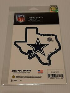 Official DALLAS COWBOYS NFL Home State Auto Sticker Window Vinyl Decal