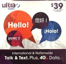 Ultra Mobile USA Sim Card 1 Month Unlimited Talk Text 4G LTE Unlimited Data NEW