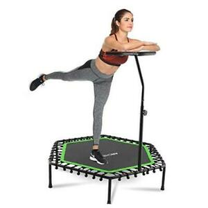 """Mini Trampoline Rebounder for Adults Kids Fitness, 50"""" Cardio Green"""