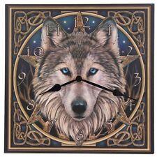 Horloge tete de loup et noeuds celtiques