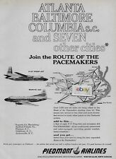 PIEDMONT AIRLINES 1962 ATLANTA BALTIMORE COLUMBIA & 7 OTHER CITIES F-27/ M404 AD
