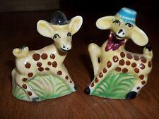 Vintage Spotted Deer Salt & Pepper Shakers