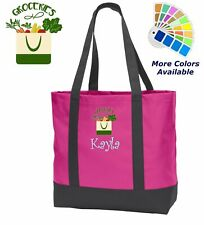 Personalized Grocery Tote Bag Embroidered Monogrammed with Name