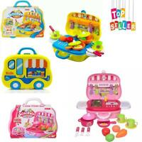 Little Chef Kids Set Toy Mini Portable Play with Accessories Creative Gift