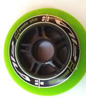 Fila High Speed  8x Rollen 90mm/83A Fitnessrollen für Inliner Skates grün