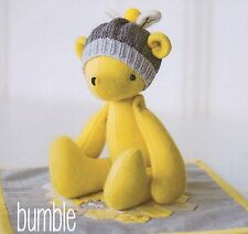 Bumble - Sewing Craft PATTERN - Soft Toy Felt Doll Bear Bird