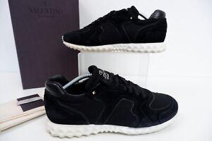 Valentino Mens Trainers, Sneakers, Uk 10 Eu44 Black Suede, White, VGC