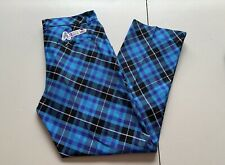 New Royal & Awesome Diamonds In The Rough Mens Golf Pants Blue Black 32x30