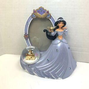 Disney Aladdin JASMINE Purple Dress Snow Globe Picture Frame