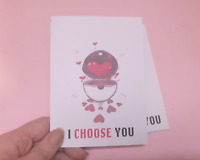 I choose you - pokemon - valentines card - Greeting card - Australian seller