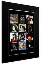 More details for mounted / framed print t rex discography - 3 sizes poster gift artwork glam rock