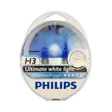 H3 PHILIPS Diamond Vision 5000K Ultimate White Light Bulbs Headlamp