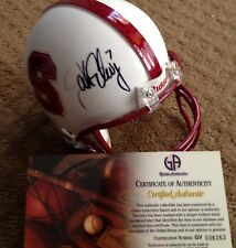 Signed JOHN ELWAY Stanford Denver Broncos Mini Helmet