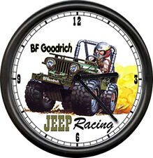 Jeep Willys 4 Four Wheeling Off Road Auto Willy's Sale Service Racing Wall Clock