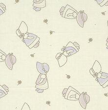 Fat Quarter Sunbonnet Sue Cotton Quilting Fabric- 50cm x 55cm - Cream / Ecru