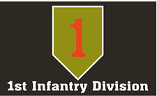 "1ST INFANTRY DIVISION ""THE BIG RED ONE"" 3' X 5' POLYESTER FLAG"