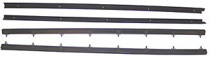 1975-1979 Chevrolet Nova 2 door new window sweep seals, belt line molding, 4 pcs