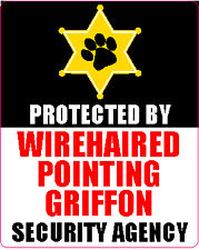 Protected By Wirehaired Pointing Griffon Agency Sticker